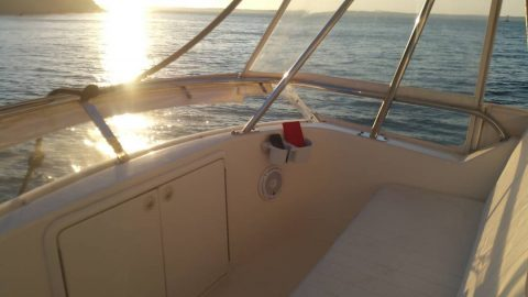 More flybridge seating and fantastic views.