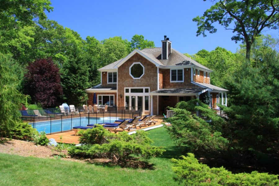Saltwater pool, optional pool fencing, deck, and grounds