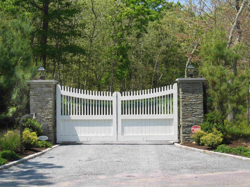 Gated private driveway.