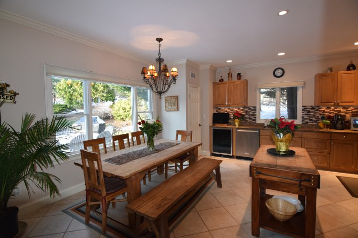 Fully equipped gourmet kitchen at HamptonsGetaway, a Hamptons rental.